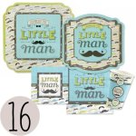 Dashing-Little-Man-Mustache-Baby-Shower-or-Birthday-Party-Tableware-Plates-Cups-Napkins-Bundle-for-16-0