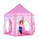 Extra-Thick-Kids-Indoor-Princess-Castle-Play-Tents-with-Beading-DecorationOutdoor-Girls-Large-Playhouse55x-53-0
