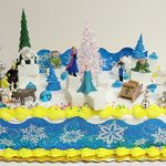 FROZEN-35-Piece-Frozen-Cake-Topper-Set-Featuring-2-Winter-Wonderland-Figures-of-Elsa-Anna-Sven-Hans-Kristoff-Olaf-Marshmallow-Snow-Monster-Bulda-Troll-King-Troll-and-Other-Winter-Themed-Accessories-Ca-0