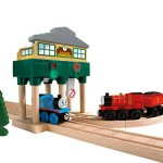 Fisher-Price-Thomas-Friends-Wooden-Railway-Deluxe-Over-The-Track-Signal-Battery-Operated-0-0