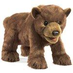 Folkmanis-Bear-Cub-Hand-Puppet-Plush-Brown-0