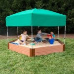 Frame-It-All-Two-Series-7ft-x-8ft-x-11in-Composite-Hexagon-Sandbox-Kit-with-CanopyCover-0