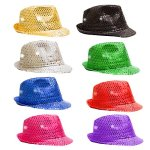 Fun-Central-O993-LED-Light-Up-Sequin-Fedoras-Assorted-Colors-12ct-0