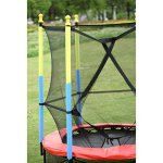 Fun-Family-Kids-Outdoor-Exercise-Springy-Trampoline-55-Round-Mini-Playground-Equipment-With-Enclosure-Net-Pad-0-2