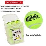 GAMMA-Pressureless-Tennis-Ball-Bucket-Case-w48-Practice-Balls-SturdyReusablePortable-Bucket-to-Replace-Less-Durable-Tennis-Mesh-Bags-Ideal-For-All-Court-Types-Gamma-Premium-Tennis-Accessories-0-0