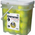 GAMMA-Pressureless-Tennis-Ball-Bucket-Case-w48-Practice-Balls-SturdyReusablePortable-Bucket-to-Replace-Less-Durable-Tennis-Mesh-Bags-Ideal-For-All-Court-Types-Gamma-Premium-Tennis-Accessories-0