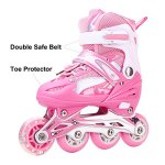 Girls-Inline-Skates-Adjustable-Rollerblades-for-Kids-Girls-Illuminating-Wheel-the-Premium-Breathable-Mesh-Roller-Skates-Double-Secure-Lock-0-0