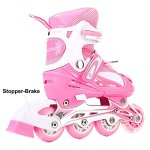 Girls-Inline-Skates-Adjustable-Rollerblades-for-Kids-Girls-Illuminating-Wheel-the-Premium-Breathable-Mesh-Roller-Skates-Double-Secure-Lock-0-1