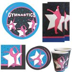 Gymnastics-Deluxe-Party-Packs-70-Pieces-for-16-Guests-Gymnast-Birthday-Supplies-Gymnast-Competition-Supplies-Tableware-0