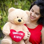 Hollabears-Extra-Large-Shawty-U-Fine-As-Shit-Tho-Teddy-Bear-Funny-and-Cute-Valentines-Day-Gift-for-Girlfriend-Boyfriend-or-Best-Friends-0-1
