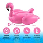 Huge-Inflatable-Pink-Flamingo-Pool-Float-Large-6-Foot-Floatie-for-Kids-and-Adults-with-Riding-Handles-Extra-Thick-Heavy-Puncture-Resistant-Duty-Vinyl-By-Breco-0-0