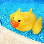 Inflatable-Duck-Float-Pool-Raft-HUGE-80-Rubber-Duck-Pool-Float-Inflatables-for-Adults-Kids–Perfect-Pool-Toy-for-the-Beach-Floats-with-Durable-Yellow-Vinyl-Guaranteed-Floatie-Fun-on-Water-0-2
