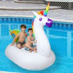 Inflatable-Unicorn-Float-Pool-Raft-HUGE-80-Unicorn-Pool-Float-Inflatables-for-Adults-Kids–Perfect-Pool-Toy-for-the-Beach-Floats-with-Durable-Soft-Vinyl-for-Guaranteed-Floatie-Fun-on-Water-0-1