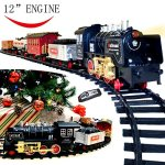 Joyin-Classic-Holiday-Electric-Premium-Train-Set-BIG-Train-12-Engine-with-Lights-Sounds-and-Remote-Control-5-Train-Cars-and-Tracks-for-Christmas-Toy-Christmas-Gift-Christmas-Tree-Decor-0