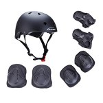 KAMUGO-Kids-Youth-Adjustable-Comfortable-Helmet-with-Sports-Protective-Gear-Set-KneeElbowWrist-Pads-for-Cycling-Skateboarding-Skating-Rollerblading-and-Other-Extreme-Sports-Activities-0