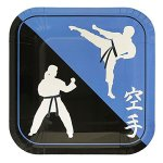 Karate-Deluxe-Party-Packs-70-Pieces-for-16-Guests-Karate-Birthday-Supplies-Tableware-Sets-Martial-Arts-Party-Decorations-0-1