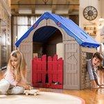 Keter-WonderFold-Foldable-Playhouse-Red-RoofGreen-Door-0-0