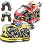 Kid-Galaxy-Remote-Control-Bumper-Cars-RC-2-Player-Game-2-Cars-and-2-Controllers-Included-0