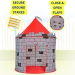 Kiddey-Knights-Castle-Kids-Play-Tent-Indoor-Outdoor-Childrens-Playhouse-Durable-Portable-with-Free-Carrying-Bag–BONUS-Shield-and-Sword-Set-Makes-Perfect-Gift-for-Boys-Girls-0-0