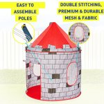 Kiddey-Knights-Castle-Kids-Play-Tent-Indoor-Outdoor-Childrens-Playhouse-Durable-Portable-with-Free-Carrying-Bag–BONUS-Shield-and-Sword-Set-Makes-Perfect-Gift-for-Boys-Girls-0-2