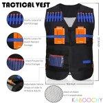 Kids-Ultimate-Tactical-Vest-100-Piece-Kit-for-N-Strike-Elite-Nerf-with-Tactical-Vest-Holster-Belt-2-Wrist-Bands-2-Quick-Reloads12-Foam-Cans-Mask-Glasses-80-Refill-Darts-ULTRA-VALUE-PACK-0-0