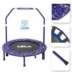 LBLA-Little-Kids-Trampoline-with-Adjustable-Handrail-and-Safety-Padded-Cover-Mini-Foldable-Bungee-Rebounder-0-2