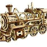 LK701-DIY-Laser-Cut-3D-Wooden-Puzzle-Mechanical-Windup-Locomotive-0