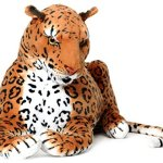 Lahari-the-Leopard-3-12-Foot-Tail-Measurement-not-Included-Big-Stuffed-Animal-Plush-Cat-Shipping-from-Pennsylvania-By-Tiger-Tale-Toys-0-0