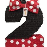 Large-Number-Two-Pinata-Black-Color-with-Red-Bow-0