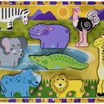MELISSA-DOUG-SAFARI-CHUNKY-PUZZLE-Set-of-3-0