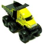 Maisto-Fresh-Metal-Builder-Zone-Quarry-Monster-Yellow-Dump-Truck-Motorized-6-Wheeler-0-2