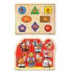 Melissa-Doug-Jumbo-Knob-Wooden-Puzzles-Shapes-and-Farm-Animals-0