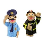Melissa-Doug-Rescue-Puppet-Set-Police-Officer-and-Firefighter-0