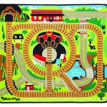 Melissa-Doug-Round-the-Rails-Train-Rug-With-3-Linking-Wooden-Train-Cars-39-x-36-inches-0-0