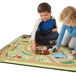 Melissa-Doug-Round-the-Rails-Train-Rug-With-3-Linking-Wooden-Train-Cars-39-x-36-inches-0