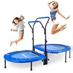 Merax-Kids-Mini-Trampoline-Parent-Child-Trampoline-with-Adjustable-Handlebar-0