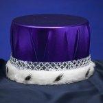 Metallic-Purple-with-Silver-Trim-Kings-Crown-0