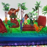 Moana-Tropical-Themed-Birthday-Cake-Topper-Set-Featuring-Moana-Figure-and-Decorative-Accessories-0