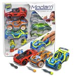 Modarri-Delux-3-Pack-Build-Your-Car-Kit-Toy-Set-S1X1T1-Ultimate-Toy-Car-Make-Your-Own-Car-Toy-For-Thousands-of-Designs-Real-Steering-and-Suspension-Educational-Take-Apart-Toy-Car-For-Kids-0