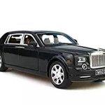 Model-carGreshare-124-Rolls-Royce-Phantom-Diecast-Sound-Light-Pull-Back-Model-Toy-Car-Black-New-in-Box-0