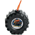 Monster-Jam-Childrens-Birthday-Party-Supplies-Truck-Tire-Plastic-Sippy-Cup-with-Straw-16-0