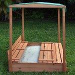 Naomi-Home-Kids-Canopy-Cedar-Sandbox-with-2-Convertible-Benches-0-2