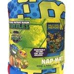 Nickelodeon-Teenage-Mutant-Ninja-Turtles-Half-Shell-Heroes-KidsToddlerChildrens-Nap-Mat-with-Built-in-Pillow-and-Blanket-Featuring–Raphael-Michelangelo-Leonardo-Donatello-0-2