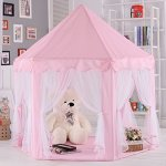 ONMIER-Pink-Princess-Castle-Kids-Play-Tent-Children-Playhouse-Great-Birthday-Gifts-For-1-10-Years-Old-Kids-Toys-Indoor-And-Outdoor-Use-LED-Light-Not-Include-0-0