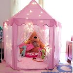 ONMIER-Pink-Princess-Castle-Kids-Play-Tent-Children-Playhouse-Great-Birthday-Gifts-For-1-10-Years-Old-Kids-Toys-Indoor-And-Outdoor-Use-LED-Light-Not-Include-0