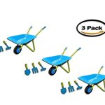 PACK-3-G-F-10041-JustForKids-Kids-Wheel-Barrel-and-Garden-Tool-Set-0