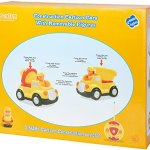 Pack-of-2-Construction-Cartoon-RC-Toys-Cement-Truck-and-Dump-Truck-Radio-Control-Toys-for-Kids-With-24Ghz-Frequency-So-Both-Can-Race-Together-0-2