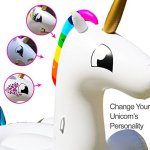 Party-With-Pride-Giant-Inflatable-Unicorn-with-Cup-Holders-Legs-and-Rainbow-Colors-Customizable-with-Included-Tattoos-0-2