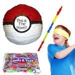 Pinatas-Pk-Ball-Pinata-Kit-Buster-Stick-Bandana-and-3-lbs-Candy-Filler-0