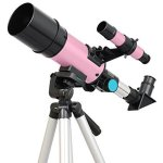 Pink-60mm-Kids-Refractor-Telescope-STEM-Pack-Bundle-by-Twinstar-0